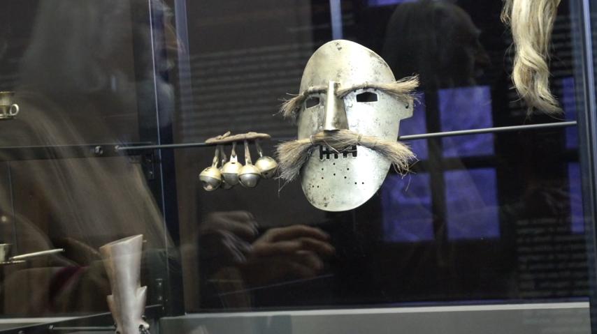 Máscara en museo Aula de Arte