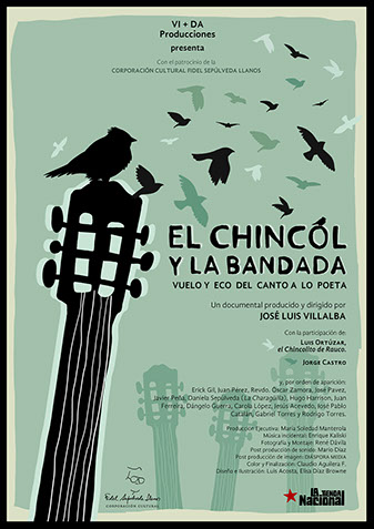 Afiche documental El Chincol y la Bandada