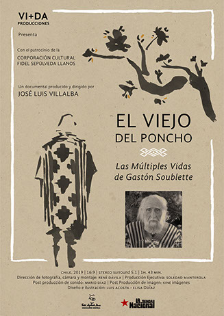 Afiche documental El Viejo del Poncho